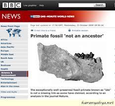 """Darwinistler: """"""""İtiraf Ediyoruz, İda Ara Fosil Değil, Tam Ve Mükemmel Bir Canlı!"""""""" (Ama, ne zaman bunu söylediler? Harun Yahya yalanlarını ortaya çıkardıktan sonra.)"""